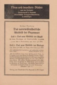 Neue und bewährte Bücher aus den Verlagen Vandenhoeck & Ruprecht Deuerlichsche Verlagsbuchhandlung in Göttingen - [broszura]
