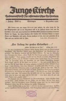 Junge Kirche, 1939/ Heft 23