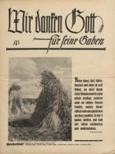 """Wir danken Gott für seine Gaben [dodatek do """"Junge Kirche"""", 1937]"""
