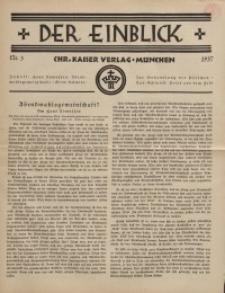 Der Einblick, Nr. 3, 1937