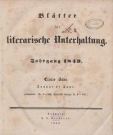 Blätter für literarische Unterhaltung, 1849, Bd. 1.