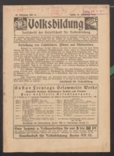 Volksbildung : Zeitschrift der Gesellschaft für Volksbildung, Jg. 46. 1916, H. 19