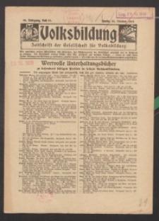 Volksbildung : Zeitschrift der Gesellschaft für Volksbildung, Jg. 46. 1916, H. 21