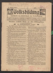 Volksbildung : Zeitschrift der Gesellschaft für Volksbildung, Jg. 46. 1916, H. 22
