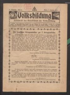 Volksbildung : Zeitschrift der Gesellschaft für Volksbildung, Jg. 47. 1917, H. 20