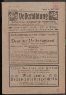 Volksbildung : Zeitschrift der Gesellschaft für Volksbildung, Jg. 55. 1925, H. 3