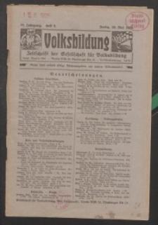 Volksbildung : Zeitschrift der Gesellschaft für Volksbildung, Jg. 55. 1925, H. 5