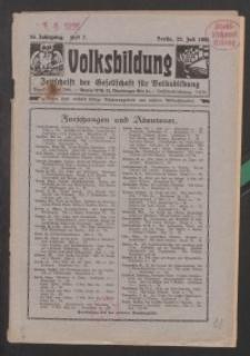 Volksbildung : Zeitschrift der Gesellschaft für Volksbildung, Jg. 55. 1925, H. 7