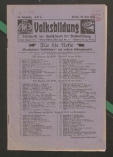 Volksbildung : Zeitschrift der Gesellschaft für Volksbildung, Jg. 56. 1926, H. 5
