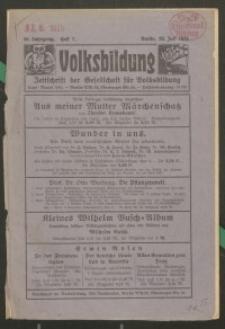 Volksbildung : Zeitschrift der Gesellschaft für Volksbildung, Jg. 56. 1926, H. 7