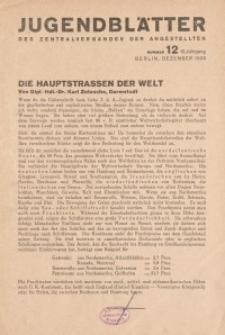 Jugend-Blätter des Zentralverbandes der Angestellten, 10. Jahrgang, 1929, H. 12 (Dezember).