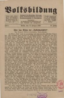 Volksbildung : Zeitschrift der Gesellschaft für Volksbildung, Jg. 58. 1928, H. 2