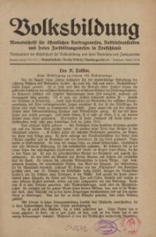 Volksbildung : Zeitschrift der Gesellschaft für Volksbildung, Jg. 58. 1928, [H. 9]