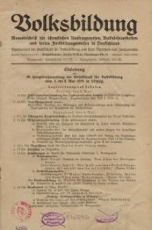 Volksbildung : Zeitschrift der Gesellschaft für Volksbildung, Jg. 59. 1929, [H. 4]