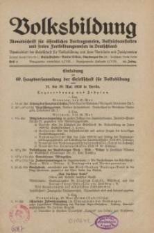 Volksbildung : Zeitschrift der Gesellschaft für Volksbildung, Jg. 60. 1930, [H. 4]