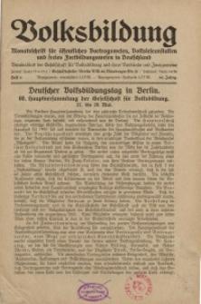 Volksbildung : Zeitschrift der Gesellschaft für Volksbildung, Jg. 60. 1930, [H. 6]
