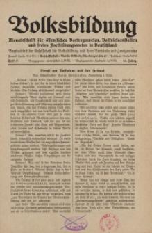 Volksbildung : Zeitschrift der Gesellschaft für Volksbildung, Jg. 60. 1930, [H. 11]