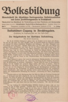 Volksbildung : Zeitschrift der Gesellschaft für Volksbildung, Jg. 61. 1931, [H. 5]