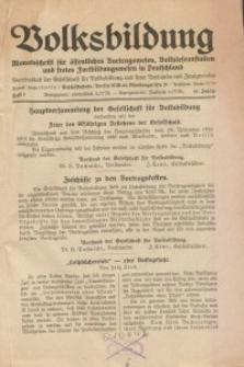 Volksbildung : Zeitschrift der Gesellschaft für Volksbildung, Jg. 61. 1931, [H. 7]