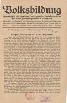 Volksbildung : Zeitschrift der Gesellschaft für Volksbildung, Jg. 61. 1931, [H. 12]