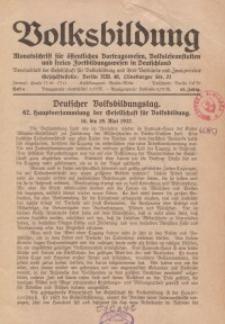 Volksbildung : Zeitschrift der Gesellschaft für Volksbildung, Jg. 62. 1932, [H. 6]