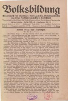 Volksbildung : Zeitschrift der Gesellschaft für Volksbildung, Jg. 62. 1932, [H. 12]