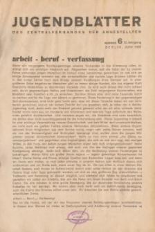 Jugend-Blätter des Zentralverbandes der Angestellten, 12. Jahrgang, 1931, H. 6 (Juni).