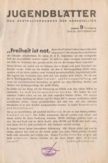Jugend-Blätter des Zentralverbandes der Angestellten, 12. Jahrgang, 1931, H. 9 (September).