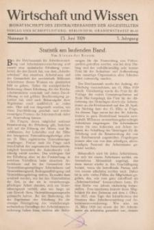 Wirtschaft und Wissen, 1929, H. 6