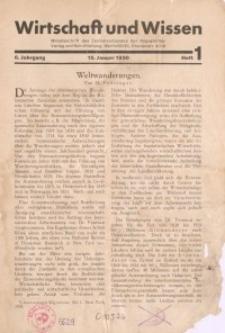 Wirtschaft und Wissen, 1930, H. 1