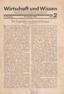 Wirtschaft und Wissen, 1930, H. 2