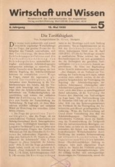 Wirtschaft und Wissen, 1930, H. 5
