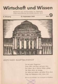 Wirtschaft und Wissen, 1930, H. 9