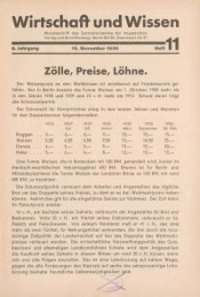 Wirtschaft und Wissen, 1930, H. 11