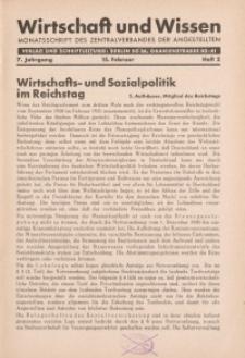 Wirtschaft und Wissen, 1931, H. 2