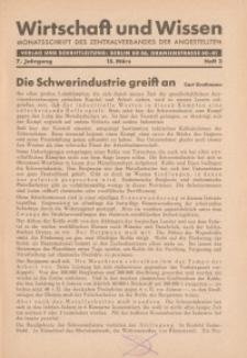 Wirtschaft und Wissen, 1931, H. 3