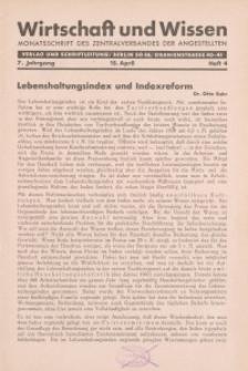 Wirtschaft und Wissen, 1931, H. 4