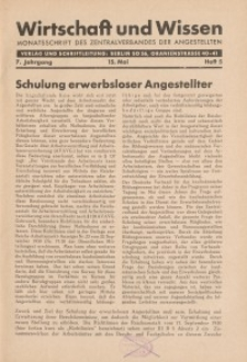 Wirtschaft und Wissen, 1931, H. 5