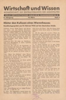 Wirtschaft und Wissen, 1932, H. 3