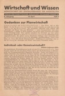 Wirtschaft und Wissen, 1932, H. 4