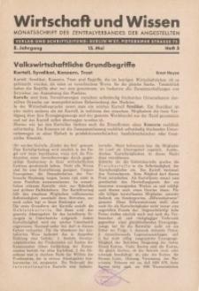 Wirtschaft und Wissen, 1932, H. 5
