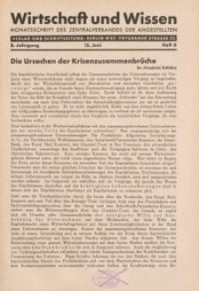 Wirtschaft und Wissen, 1932, H. 6