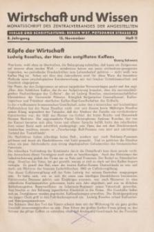 Wirtschaft und Wissen, 1932, H. 11