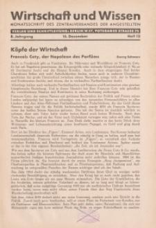 Wirtschaft und Wissen, 1932, H. 12