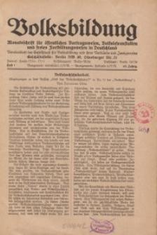 Volksbildung : Zeitschrift der Gesellschaft für Volksbildung, Jg. 63. 1933, [H. 1]
