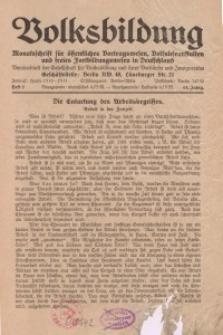 Volksbildung : Zeitschrift der Gesellschaft für Volksbildung, Jg. 63. 1933, [H. 2]