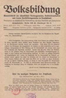 Volksbildung : Zeitschrift der Gesellschaft für Volksbildung, Jg. 63. 1933, [H. 8]