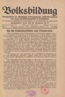 Volksbildung : Zeitschrift der Gesellschaft für Volksbildung, Jg. 63. 1933, [H. 9]