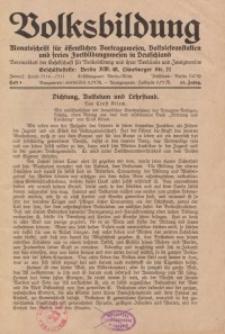Volksbildung : Zeitschrift der Gesellschaft für Volksbildung, Jg. 63. 1933, [H. 10]