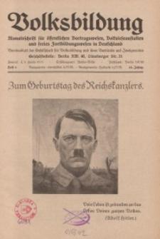 Volksbildung : Zeitschrift der Gesellschaft für Volksbildung, Jg. 64. 1934, [H. 4]